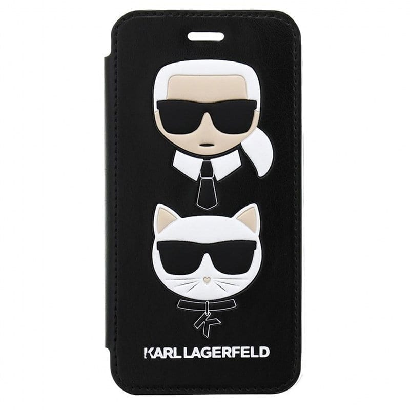 Karl Lagerfeld Karl and Choupette Black Kryt iPhone 8/7/6/SE 2 2020