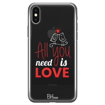 All You Need Is Love Kryt iPhone X/XS