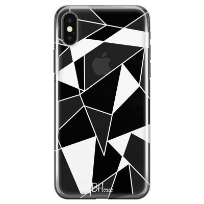 Black White Geometric Kryt iPhone X/XS
