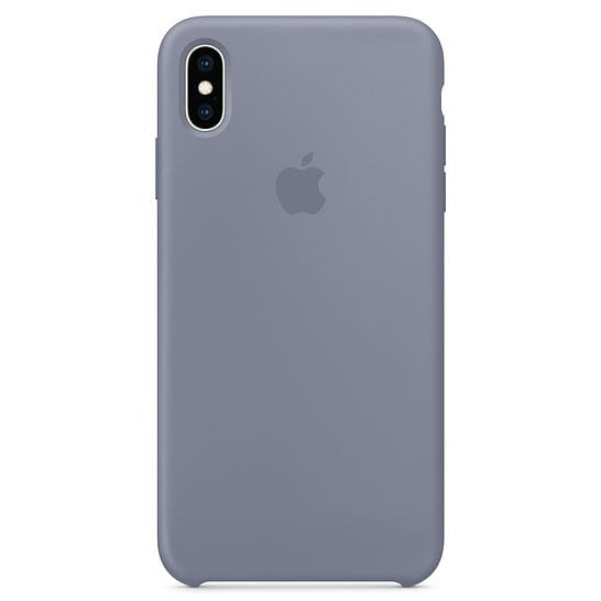 Apple Lavender Gray Silicone Kryt iPhone XS Max