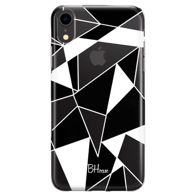 Black White Geometric Kryt iPhone XR
