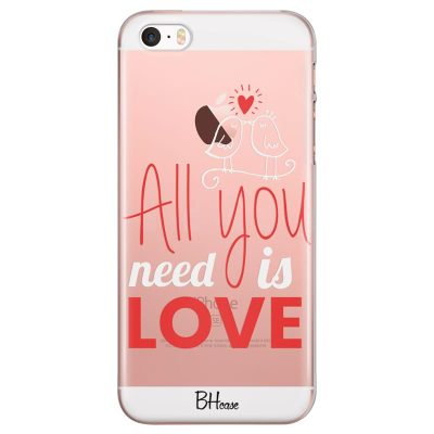 All You Need Is Love Kryt iPhone SE/5S