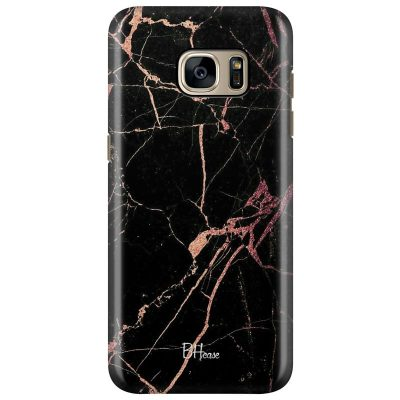 Black Rose Marble Kryt Samsung S7 Edge