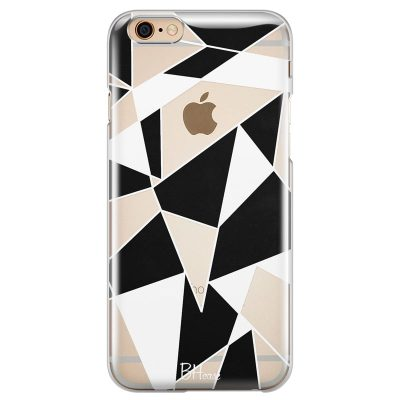 Black White Geometric Kryt iPhone 6 Plus/6S Plus