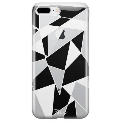 Black White Geometric Kryt iPhone 7 Plus/8 Plus