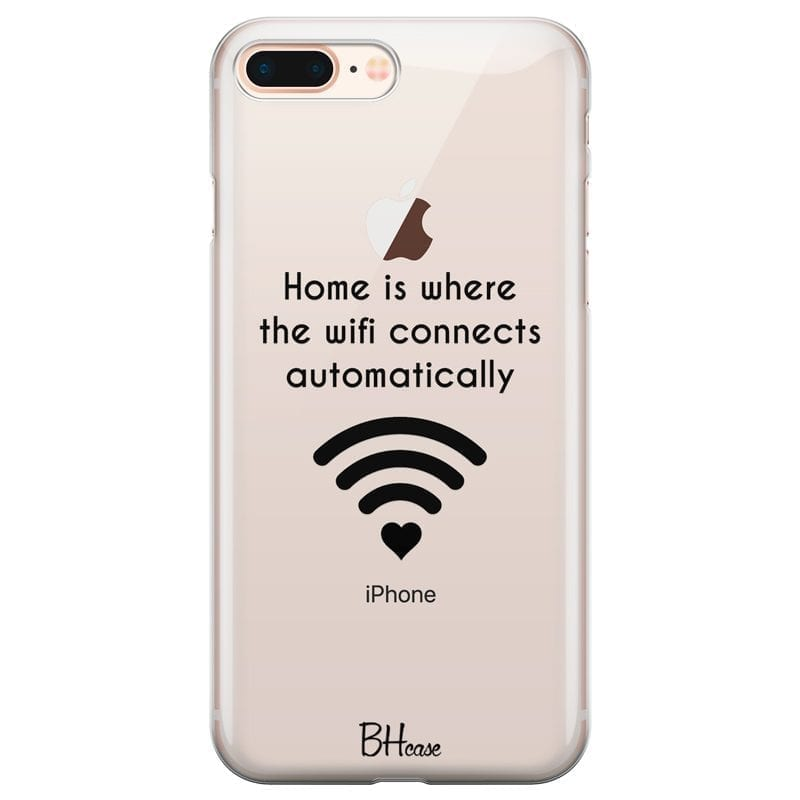 Home Is Where The Wifi Connects Automatically Kryt iPhone 7 Plus/8 Plus