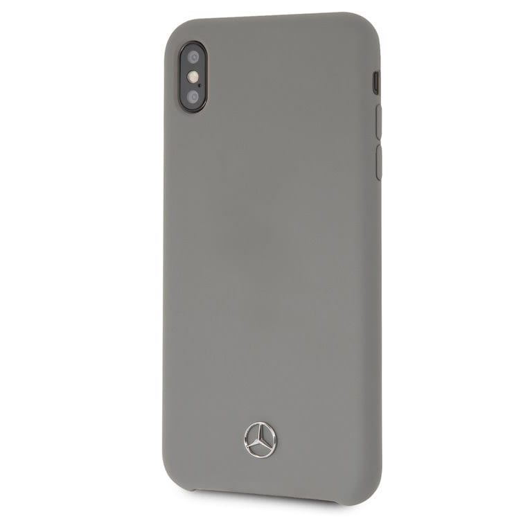 Mercedes Silicone Lining Grey Kryt iPhone XS Max