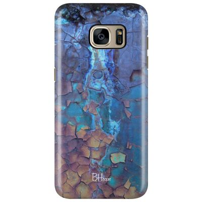 Stone Cracked Blue Kryt Samsung S7 Edge