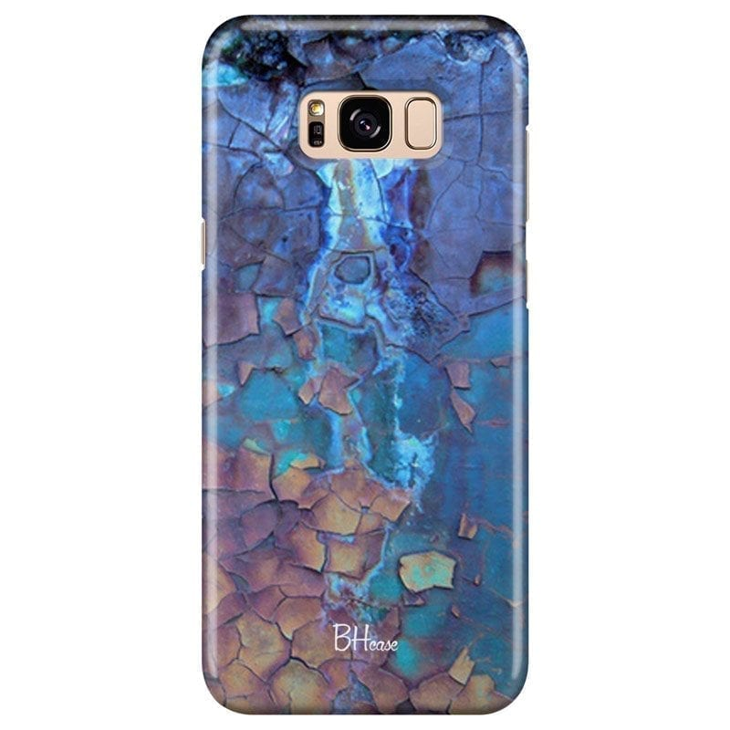 Stone Cracked Blue Kryt Samsung S8 Plus