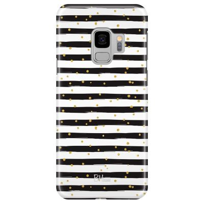 Stripes Gold Black White Kryt Samsung S9