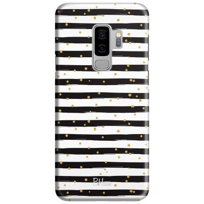 Stripes Gold Black White Kryt Samsung S9 Plus