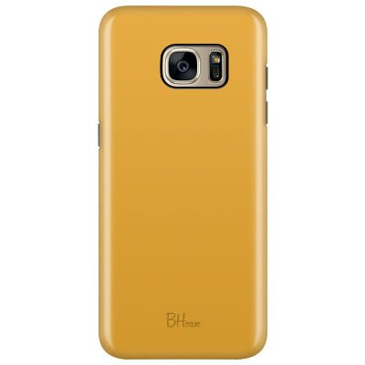 Honey Yellow Color Kryt Samsung S7 Edge