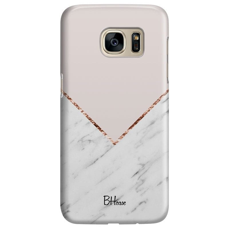 Marble And Pink Color Kryt Samsung S7