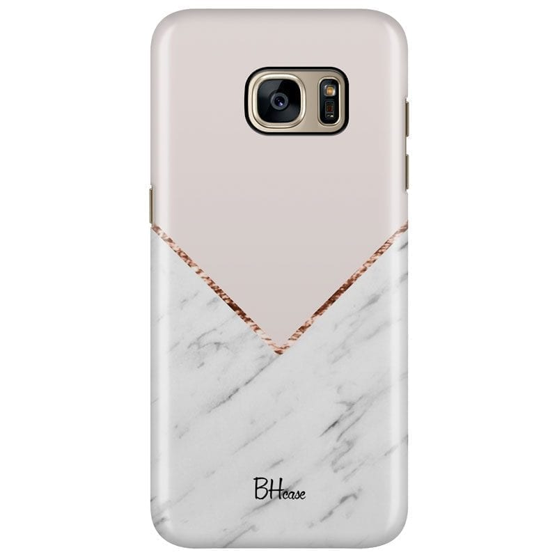 Marble And Pink Color Kryt Samsung S7 Edge