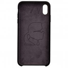 Karl Lagerfeld Iconic Full Body Silicone Black Kryt iPhone XR