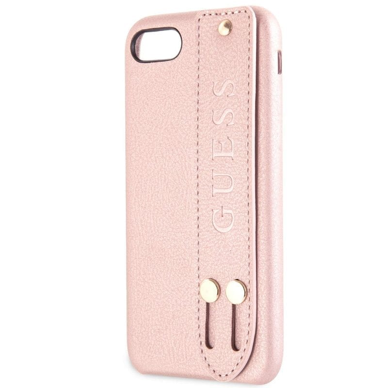Guess Saffiano Strap Rose Kryt iPhone 8/7/SE 2 2020