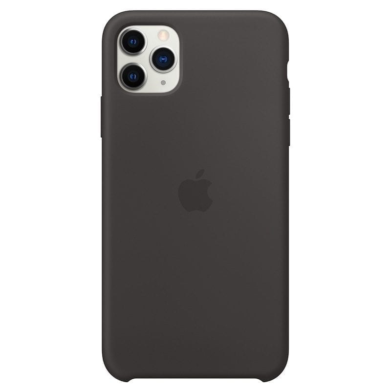 Apple Black Silicone Kryt iPhone 11 Pro Max