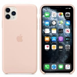 Apple Pink Sand Silicone Kryt iPhone 11 Pro