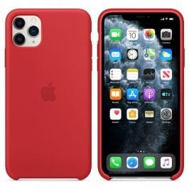 Apple Product Red Silicone Kryt iPhone 11 Pro Max