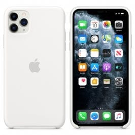 Apple White Silicone Kryt iPhone 11 Pro
