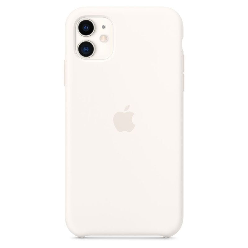 Apple White Silicone Kryt iPhone 11