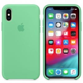 Apple Spearmint Silicone Kryt iPhone XS