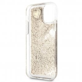 Guess Glitter Hearts Gold Kryt iPhone 11
