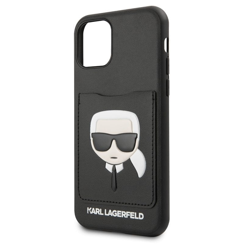 Karl Lagerfeld Karl and Choupette Black Kryt iPhone 11
