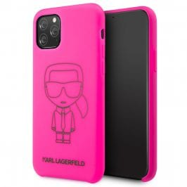 Karl Lagerfeld Silicone Black Out Pink Kryt iPhone 11 Pro