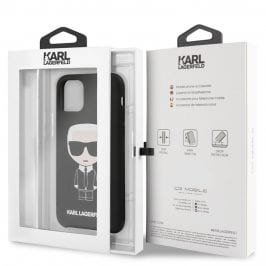 Karl Lagerfeld Iconic Full Body Silicone Black Kryt iPhone 11 Pro