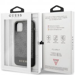 Guess 4G Stripe Grey Kryt iPhone 11