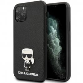 Karl Lagerfeld Saffiano Iconic Black Kryt iPhone 11 Pro