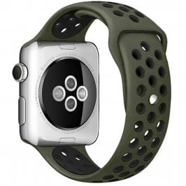 Sport Náramok Apple Watch 38/40mm Army Green/Black Large