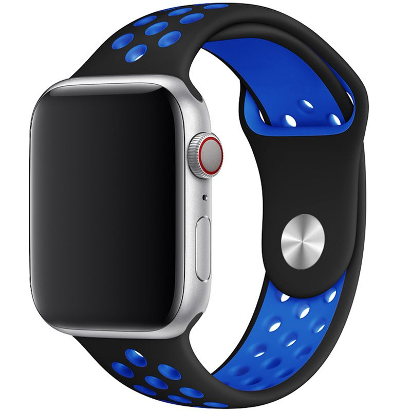 Sport Náramok Apple Watch 42/44mm Black/Blue Large