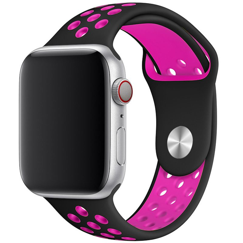 Sport Náramok Apple Watch 42/44mm Black/Pink Large