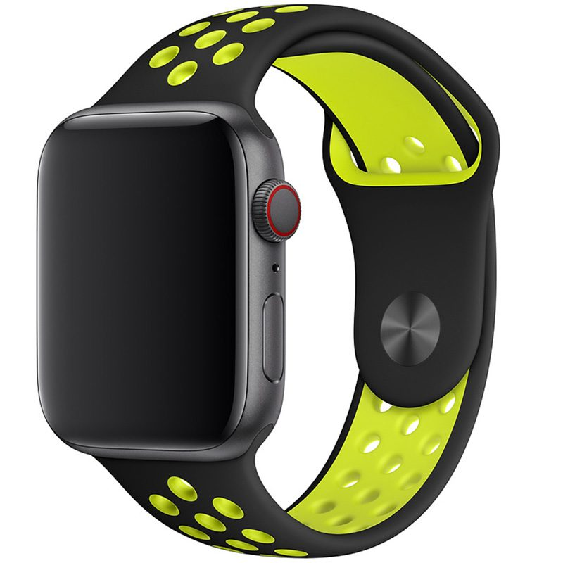 Sport Náramok Apple Watch 42/44mm Black/Yellow Large