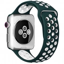 Sport Náramok Apple Watch 42/44mm Ink Green/White Large