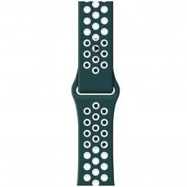 Sport Náramok Apple Watch 45/44/42mm Ink Green/White Small