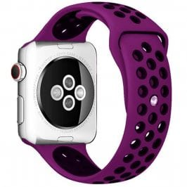 Sport Náramok Apple Watch 38/40mm Purple/Black Large