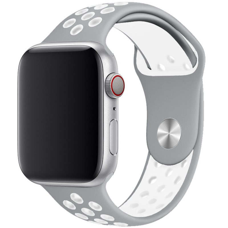 Sport Náramok Apple Watch 42/44mm Silver/White Large