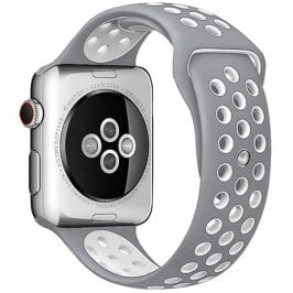 Sport Náramok Apple Watch 42/44mm Silver/White Small