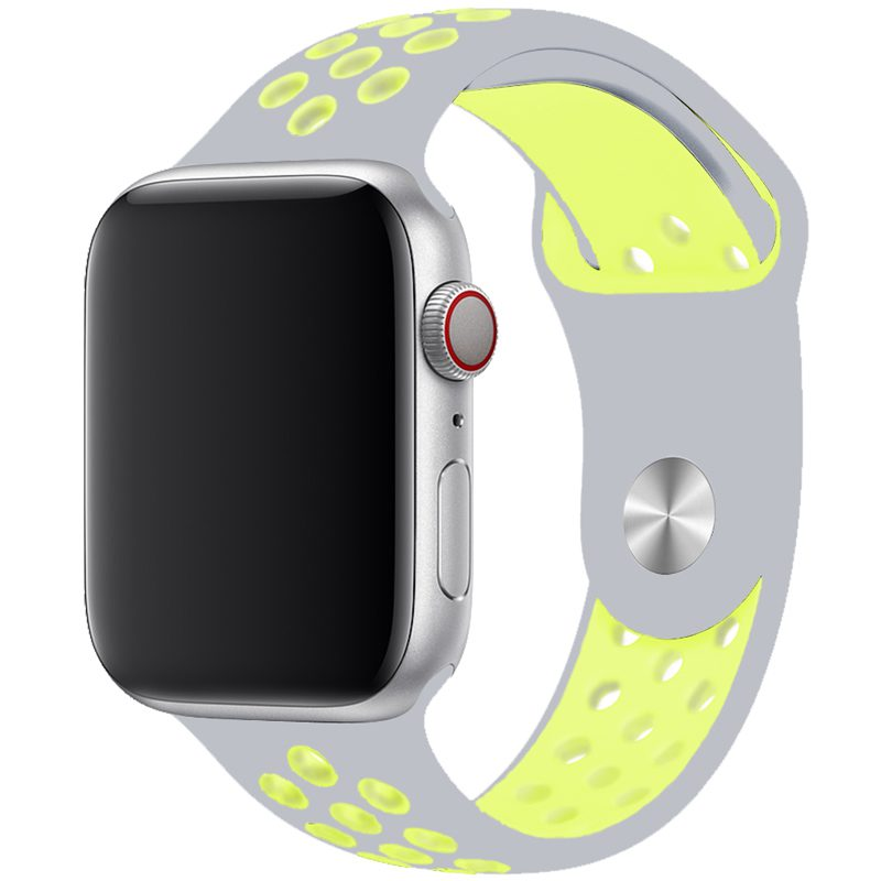 Sport Náramok Apple Watch 42/44mm Silver/Yellow Large