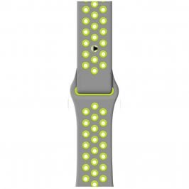 Sport Náramok Apple Watch 38/40mm Silver/Yellow Large