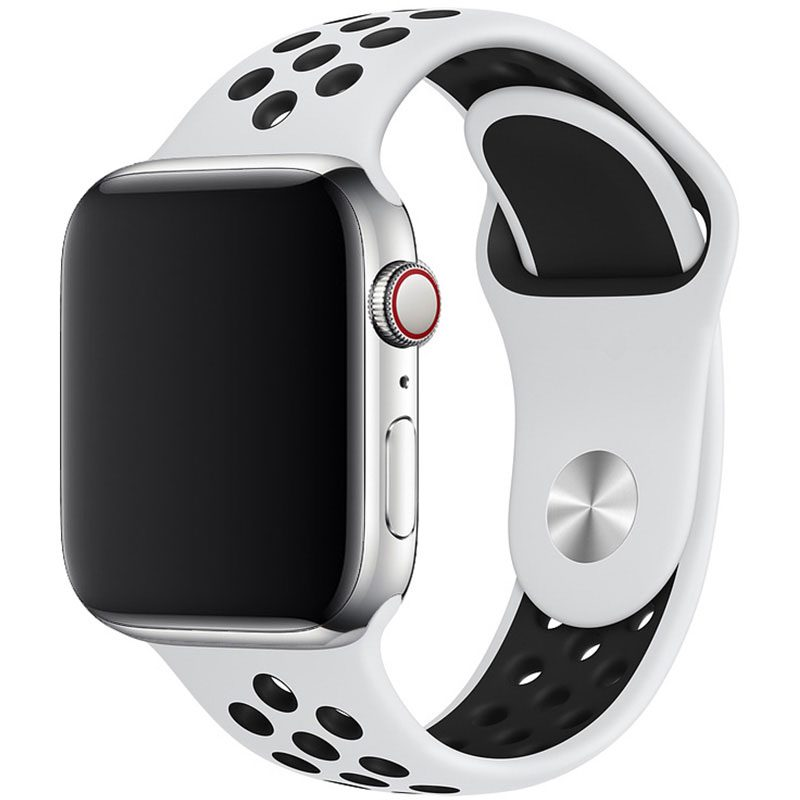 Sport Náramok Apple Watch 38/40mm White/Black Small