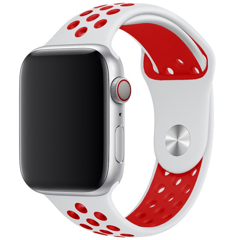 Sport Náramok Apple Watch 42/44mm White/Red Large