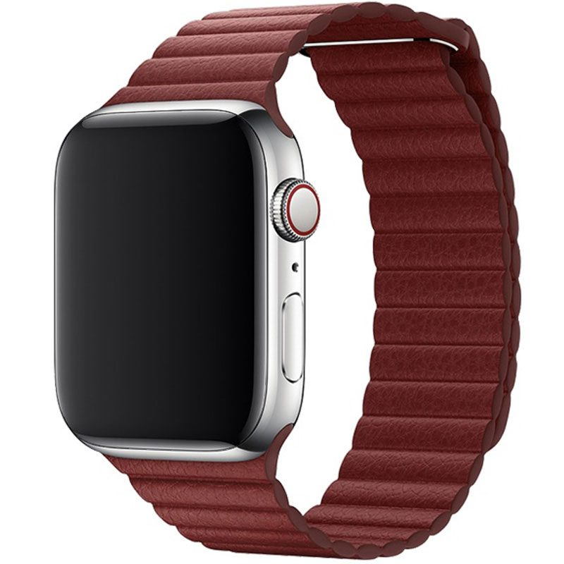 Leather Loop Náramok Apple Watch 42/44mm Red