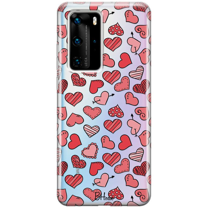 Hearts Red Kryt Huawei P40 Pro