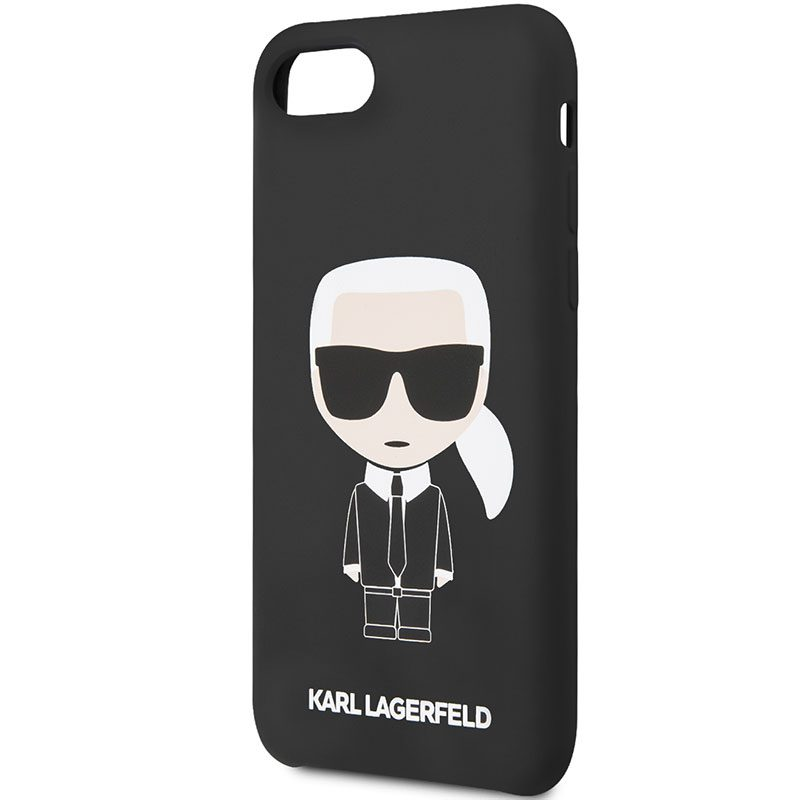 Karl Lagerfeld Iconic Full Body Silicone Black Kryt iPhone 8/7/SE 2 2020