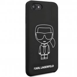 Karl Lagerfeld Silicone White Out Black Kryt iPhone 8/7/SE 2 2020