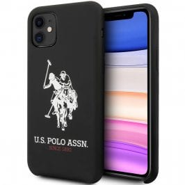 U.S. Polo Big Horse Silicone Black Kryt iPhone 11